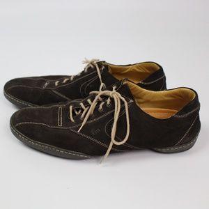 Romano Martegani brown suede oxford shoes
